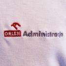Koszulki polo z haftowanym logo Orlen Administracji. Wyszywane logo firmy na polówkach. Haft w najlepszej cenie.